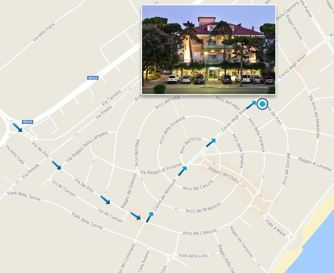 Hotel Udine  Stelle